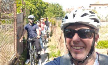 Balade en vélo pour l'équipe avant les vacances d'été